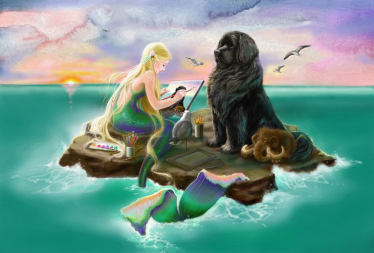 Mermaid and Newfie